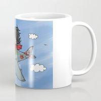 yoshi Mugs featuring Yoshi Pilot by DogoD Art