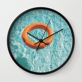 Swimming Pool III Wall Clock
