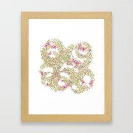 Pink flower wreaths Framed Art Print
