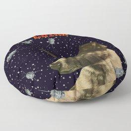 Gagarin space art #2 - Laika Floor Pillow