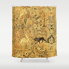 Antique Persian Tabriz Animal Rug Print Shower Curtain