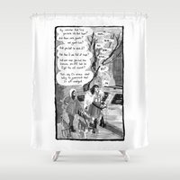 conan Shower Curtains featuring Cromic #2 - Remember that time... by Portable City Illustration