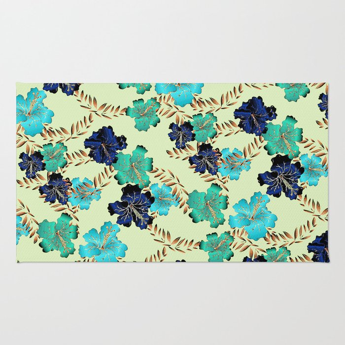 Multicolor elegant floral texture Rug
