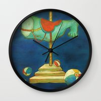 carnival Wall Clocks featuring carnival by colorlabo