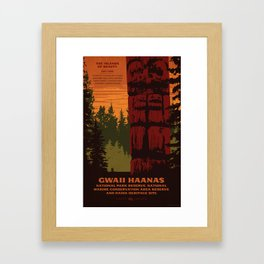 Gwaii Haanas National Park Reserve, National Marine Conservation Area Reserve & Haida Heritage Site Framed Art Print