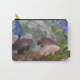 Four Oscars swimming in an aquarium (Painted) Carry-All Pouch