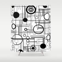 phil jones Shower Curtains featuring Phil Coulsons Carvings by Rachcox