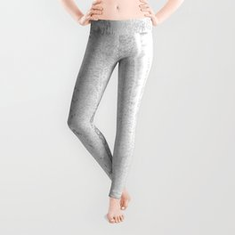 CONFIDENT - brush, white, gray background Leggings