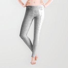 CONFIDENT - brush, white, gray background Leggings