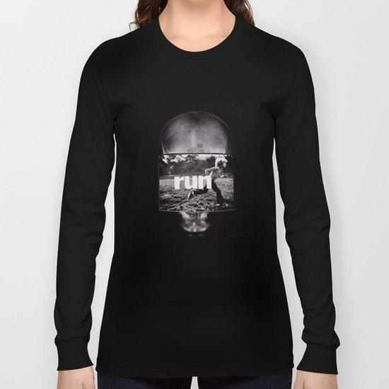 r u n (ANALOG zine) Long Sleeve T-shirt
