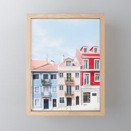 Colorful Buildings Framed Mini Art Print