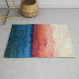 Abstract painting, Ocean Rug