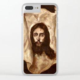 "El Greco (Domenikos Theotokopoulos) ""The Veil of Saint Veronica"" Clear iPhone Case"