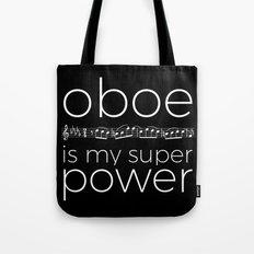 Oboe is my super power (black) Tote Bag