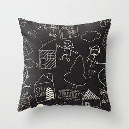 Child like pattern Throw Pillow