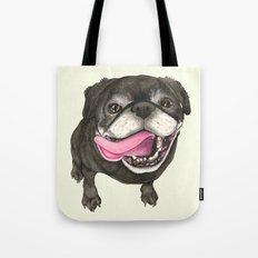 Black Pug Dog Tote Bag