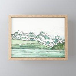 Glacier Bay Panoramic Framed Mini Art Print