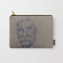 Portrait of Mark Twain in Blue Ink Carry-All Pouch