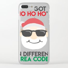 Christmas - I've got Ho Ho Ho's In Different Area Codes (Light) Clear iPhone Case