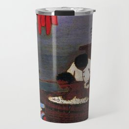 African American Masterpiece 'Saturday Night Bath' by Horace Pippin Travel Mug