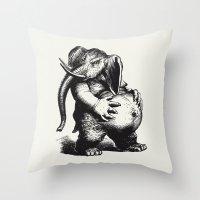 ganesha Throw Pillows featuring Ganesha by MAZUR