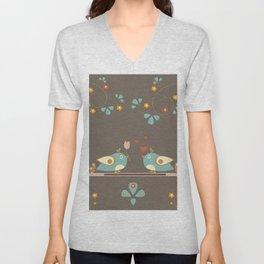 love birds Unisex V-Neck