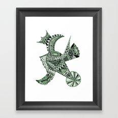 Lizard Prince Framed Art Print