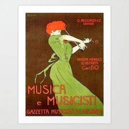 Vintage poster - Musica e Musicisti Art Print