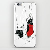 code iPhone & iPod Skins featuring Code Red by anna hammer