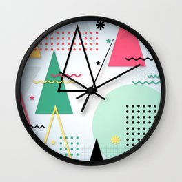 Abstract Christmas Wall Clock