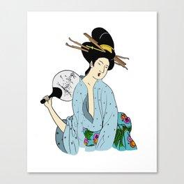 Lady Fan Canvas Print