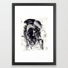 Forlorn Fingerpainting Black & White Framed Art Print