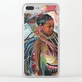 Sacred Wisdom Clear iPhone Case