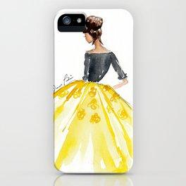 Sunny Spring Yellow Skirt Fashion Illustration iPhone Case