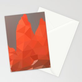 Torres del Paine National Park Low Poly Art Stationery Cards