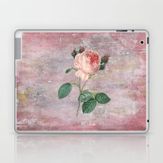 Vintage Rose - on pink grunge backround  - Roses and flowers Laptop & iPad Skin