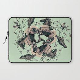 Horses and birds Laptop Sleeve