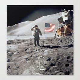 Apollo 15 - Military Salute Canvas Print