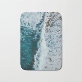 crashing waves- beach Bath Mat