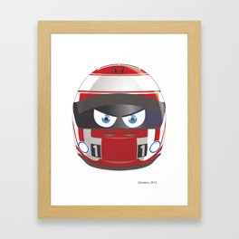 Jenson BUTTON_2014_Helmet #22 Framed Art Print