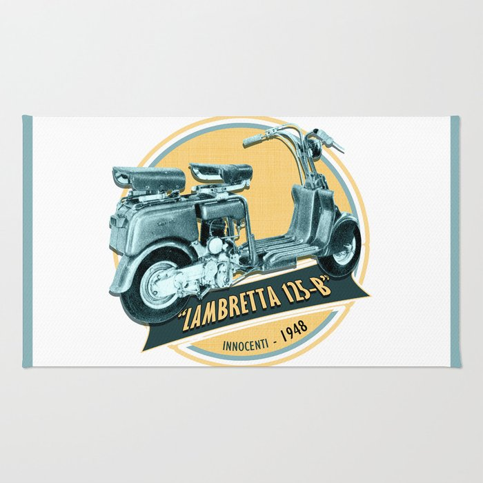 Lambretta 125 B Rug By Chiccabesso Society6