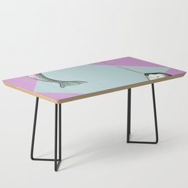 Narwhal Geometric Bright and Colorful Coffee Table