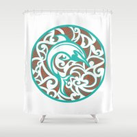 maori Shower Curtains featuring Maori Dolphin by freebornline