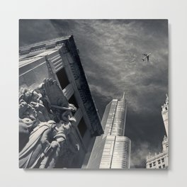 Chicago skyline tall buildings Metal Print