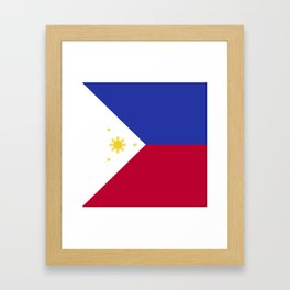 Philippines flag emblem Framed Art Print