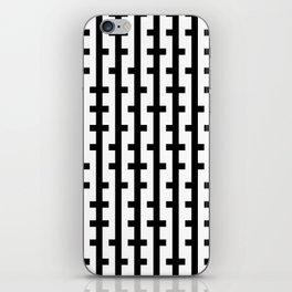 Black and White Bars iPhone Skin