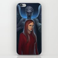 amy pond iPhone & iPod Skins featuring Dr Who- Amy Pond by ElaineTeh