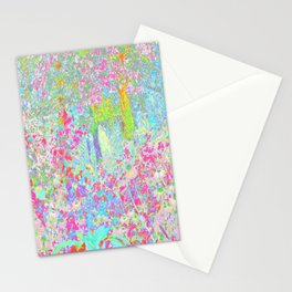 Aqua and Hot Pink Sunrise in My Rubio Garden Stationery Cards