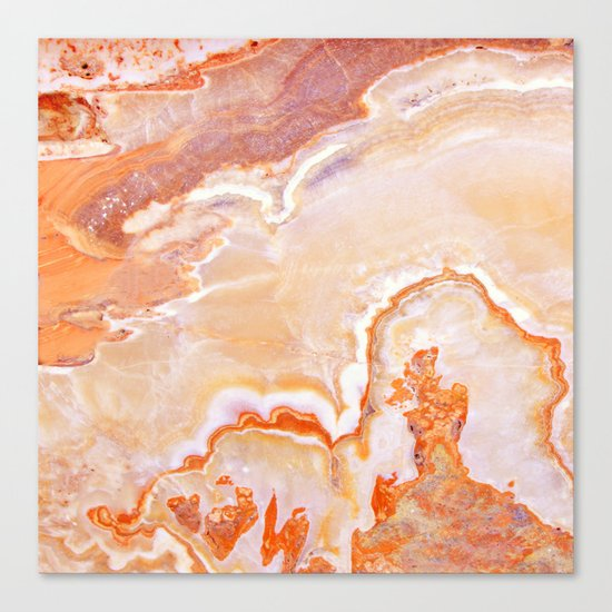 Peach Onyx Marble Canvas Print