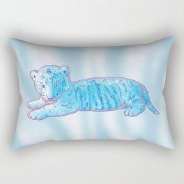Little Blue Tiger Cub Rectangular Pillow